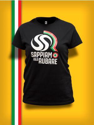 T-Shirt Sappiamo Solo Rubare Donna